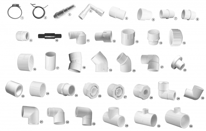 Swimming Pool Plumbing Parts : Order qty